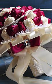 Brudebuketter Rund Roser Buketter Bryllup Satin 10.24 tommer (ca. 26cm)