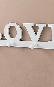 parede diária amor moda casa casaco pendurado gancho de armazenamento de pano prateleira atrás da porta