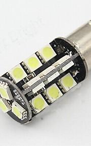 2pcs 1156-27smd-5050 lámpara de la bombilla de la lámpara de marcha atrás / cola / señal de vuelta la luz blanca dc12v