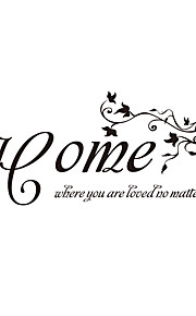 Home Words & Quotes Wall Stickers Decorative Wall Stickers,Vinyl Material Removable Wall Decals