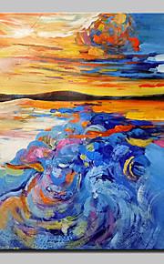 Hånd-malede Abstrakt / Fantasi Oliemalerier,Klassisk Et Panel Canvas Hang-Painted Oliemaleri For Hjem Dekoration