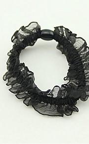 Veli da sposa 1 strato Accessori per capelli con velo Con nastrino Tulle Nero / Argento / Oro / Champagne
