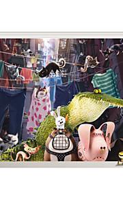 動物 / クリスマス / 3D ウォールステッカー プレーン・ウォールステッカー / 3D ウォールステッカー 飾りウォールステッカー,PVC 材料 洗濯可 / 取り外し可 / 再利用可 ホームデコレーション ウォールステッカー・壁用シール