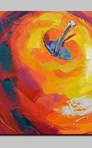 Dipinta a mano Astratto / Natura morta Dipinti ad olio,Modern Un Pannello Tela Hang-Dipinto ad olio For Decorazioni per la casa