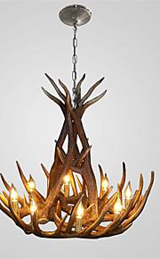 vintage Antler chandelier lighting Industrial Fixture Country 8-Lights Fit for Living Room Dining room Easy Installation