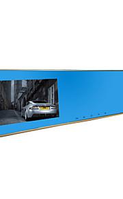 Jian yang jx761080p hd dual linse bil kamera bil videooptager 4,3-tommer skærm til for- og bag på køretøjet dvr