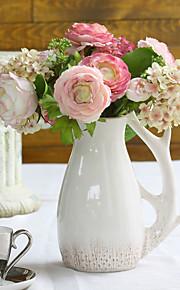 """Bouquets de Noiva Forma-Livre Rosas Decorações Casamento Poliéster 7.09""""(Aprox.18cm)"""