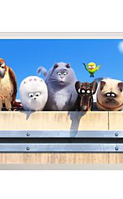 Animali / Natale / 3D Adesivi murali Adesivi aereo da parete / Adesivi 3D da parete Adesivi decorativi da parete,PVC MaterialeLavabile /