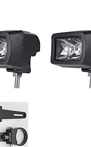 """1.75 """"een paar montagebeugels + 10W LED lichtbalk spot atv suv vrachtwagen rijden lamp"""