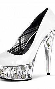 Homme-Mariage / Habillé / Soirée & Evénement-Noir / Rose / Rouge / Blanc-Talon Aiguille-Talons / A Plateau / Bout Fermé-Chaussures à
