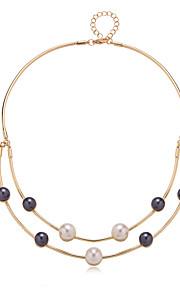 Colliers Tendance perle Strands Bijoux Quotidien A la Mode / Personnalité Alliage Doré 1pc Cadeau