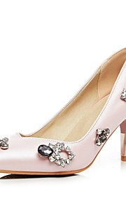 Women's Heels Summer / Pointed Toe PU Office & Career / Casual Cone Heel Sparkling Glitter Blue / Pink Others