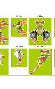 divertente auto popolari adesivi di personalità cartone animato rana 3d stereo adesivi decorativi decalcomania casa lucertola impermeabili