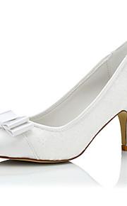 Homme-Mariage / Habillé / Soirée & Evénement-Blanc-Talon Aiguille-Confort-Chaussures à Talons-Soie