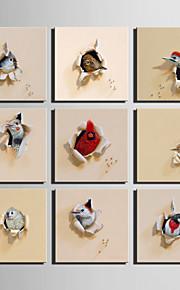 동물 캔버스 인쇄 판넬 1개 중단 준비,광장