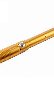 u`king zq-j9 stylo laser focalisable / pointeur / peut être auto-défense / kit de sos (5mW 445nm or noir argent)