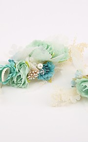 Women's Alloy / Resin / Fabric Headpiece-Wedding / Special Occasion Hair Combs / Flowers 2 Pieces Clear / Green / White