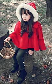 Mädchen Jacke & Mantel-Lässig/Alltäglich einfarbig Baumwolle Winter Rot