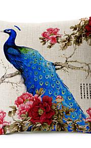 1 pcs Coton/Lin Taie d'oreiller / Oreiller de corps / Canapé Coussin,Imprimé animal Moderne/Contemporain / Traditionnel/Classique