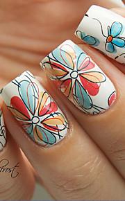 1set Nagel-Kunst-Aufkleber Wassertransfer Abziehbilder Blume Make-up kosmetische Nail Art Design
