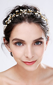 Women's Imitation Pearl / Acrylic Headpiece-Wedding / Special Occasion Flowers 1 Piece Ivory