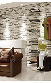 Carreau vernisé / 3D / Brique Fond d'écran pour la maison Contemporain Revêtement , Tissu Non-Tissé Matériel adhésif requis fond d'écran,