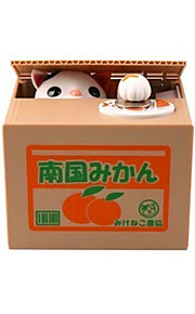 Hucha juguete de la novedad / / Cuadrado / Gato ABS Blanco / Amarillo / Gris para el muchacho / para la muchacha / Para Niños