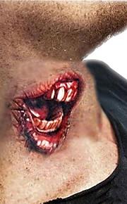 5Pcs Zombie Horror Fancy Wound Scars Gore Halloween Costume Temporary Tattoo Sticker