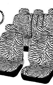 autoyouth kort luksus hvid zebra sæt universelle fit fleste bilsæder rat skulder pad sæde bil dækker