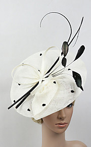 Women's Feather / Net Headpiece-Wedding / Special Occasion Party Elegant Fascinators 1 Piece
