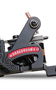 Professional Coil Tattoo Machine Cast Iron Liner Dual Coils 8 Wraps Tattoo Supplies