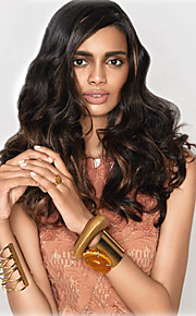 Black Brown Mixed Color Long Curly Wigs Capless Synthetic Wigs For Afro Women