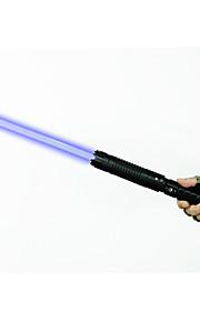 u`king zq-j88 pointeur laser bleu / set de mise au point réglable (5mw de 445nm noir / argent)