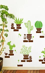 Животные / ботанический / Натюрморт Наклейки Простые наклейки Декоративные наклейки на стены,PVC материал Положение регулируется / Съемная