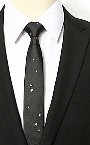 Men Vintage / Work / Casual Neck TiePolyester GalaxyBlack All Seasons