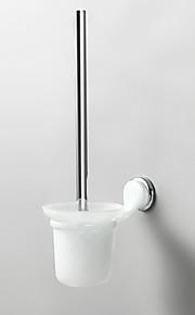Porte Brosse de Toilette / Gadget de Salle de Bain / Miroir Poli / Fixation Murale /7.7*4.9*14.96 inch /Laiton / Alliage de Zinc /