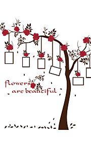 Botanica / Moda / Floreale Adesivi murali Adesivi aereo da parete Adesivi decorativi da parete / Adesivi foto,PVC MaterialeLavabile /