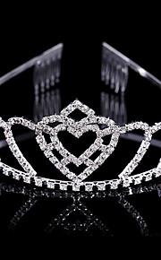 Donne / Bambina Ottone Copricapo-Matrimonio / Occasioni speciali Tiare 1 pezzo Argentato