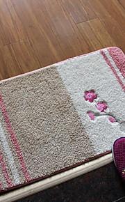 Las alfombras de área-Rústico-Verde / Rosa / Rojo-Algodón