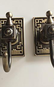 selvklebende kappe krok med 3m tilbake klistremerke grønn-bronse kroker 6pcs / set yg6pc-5