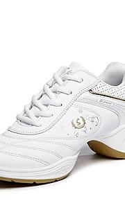 Для женщин-Дерматин-Не персонализируемая(Черный / Белый) -Танцевальные кроссовки / Модерн