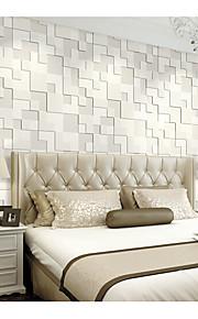 Géométrique / Décoration artistique / 3D Fond d'écran pour la maison Contemporain Revêtement , Tissu Non-Tissé Matériel adhésif requis