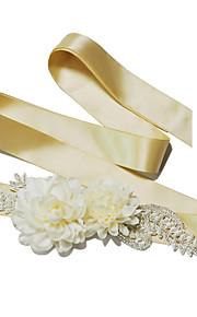 Satin Mariage / Fête/Soirée / Quotidien Ceinture-Billes / Fleur / Imitation de perle Femme 250cm Billes / Fleur / Imitation de perle
