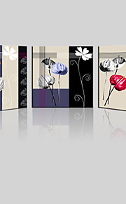 JAMMORY Canvas Set Landscape ,Three Panels Gallery Wrapped, Ready To Hang Vertical Print No Frame Blue Flowers