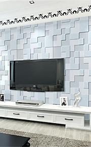 Géométrique Fond d'écran pour la maison Contemporain Revêtement , Tissu Non-Tissé Matériel adhésif requis fond d'écran , Chambre