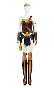 Cosplay Kostumer / Party-kostyme Superhelter / Batter / Edderkopper / Soldat/Kriger Film-Cosplay Gul EnsfargetTopp / Skjørte / Mer