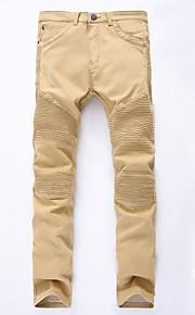 Nais- Housut-Yksinkertainen - Chinos housut / Ohut - Puuvilla Elastinen