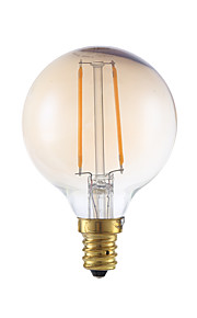 2W E12 Ampoules à Filament LED G16.5 2 COB 160 lm Ambre Gradable V 1 pièce