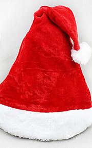 כובע סנט קטיפת קטיפה קצרה מולד 2pcs סופר רך כובע חג המולד