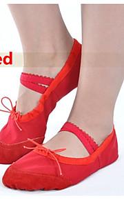 Zapatos de baile(Negro / Rosa / Rojo / Blanco) -Ballet-No Personalizables-Tacón Plano